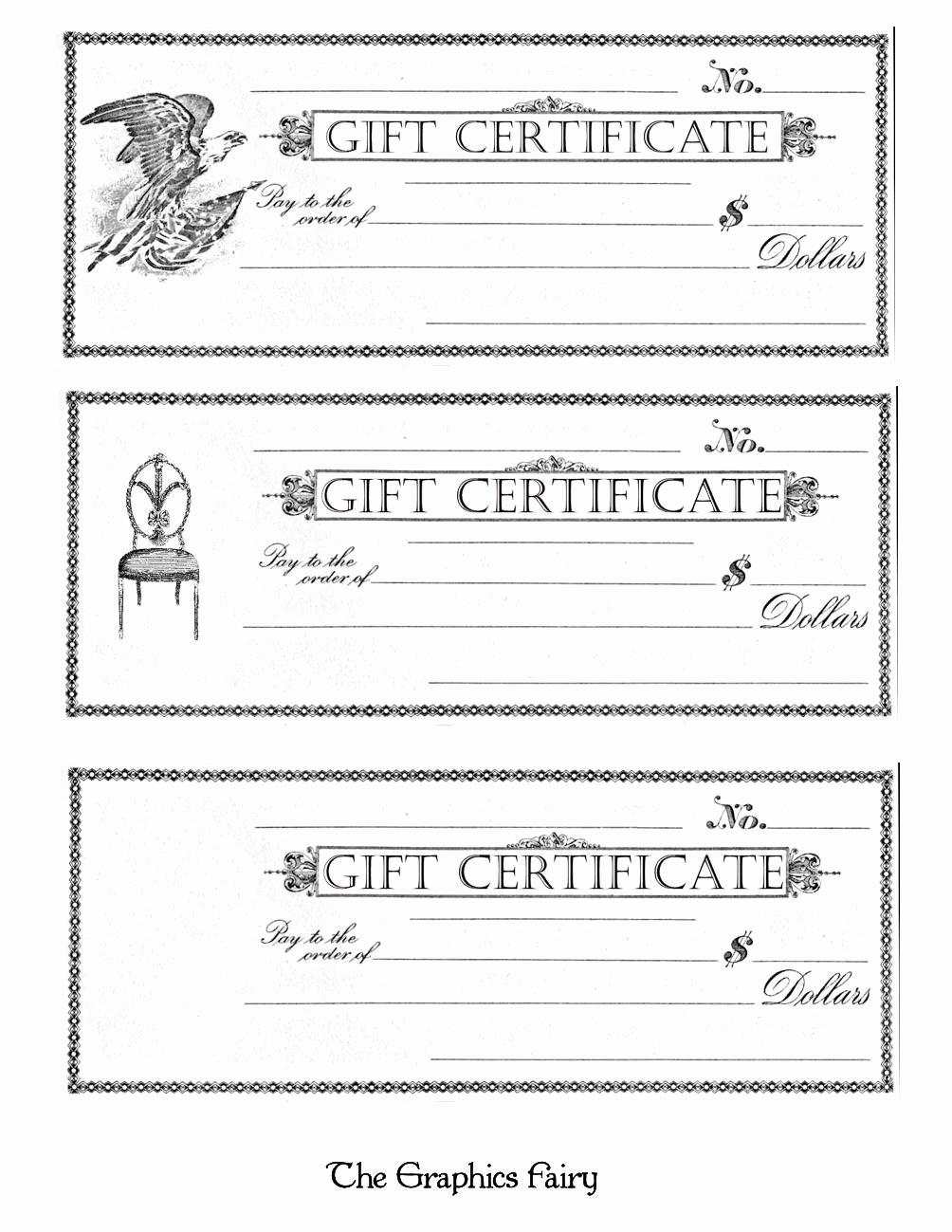 Printable Blank Gift Certificate Template Best Of Free Printable Gift Certificates the Graphics Fairy