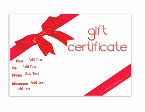 Printable Blank Gift Certificate Template Best Of Gift Certificate Template – 34 Free Word Outlook Pdf