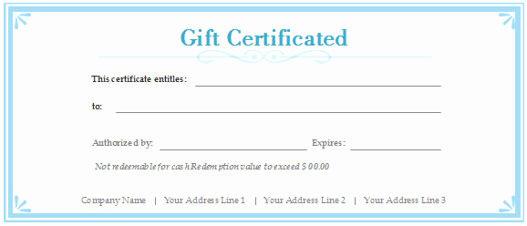 Printable Blank Gift Certificate Template Fresh Certificate Templates