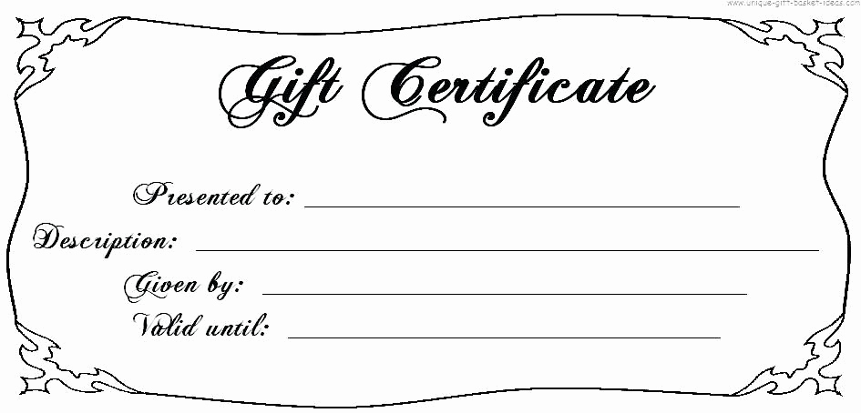 Printable Blank Gift Certificate Template Fresh Image Result for T Certificate Template Free