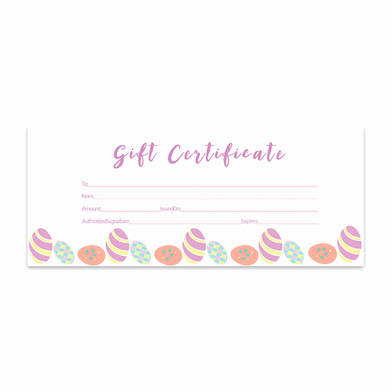 Printable Blank Gift Certificate Template Luxury Items Similar to Easter Eggs Blank Gift Certificate