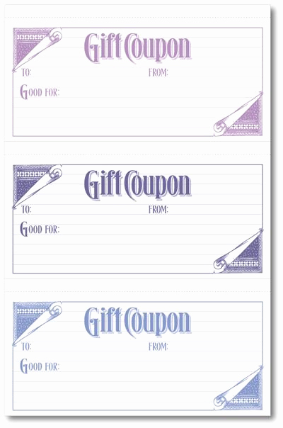 Printable Blank Gift Certificate Template Unique T Coupons W I Don T Have to Make My Own