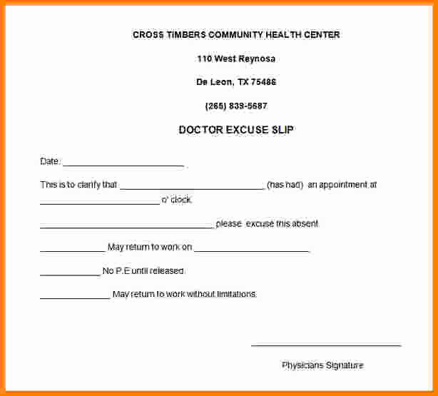 Printable Doctor Note Template Beautiful 9 Free Printable Doctors Note for Work