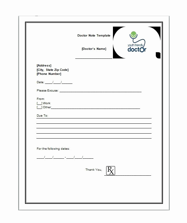 Printable Doctor Note Template Best Of 21 Free Doctor Note Excuse Templates Template Lab