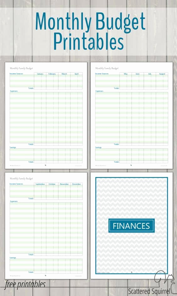Printable Family Budget Template Awesome 17 Brilliant and Free Monthly Bud Template Printable