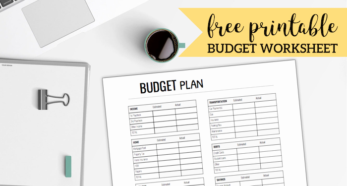 Printable Family Budget Template Elegant Free Printable Monthly Bud Worksheet Paper Trail Design