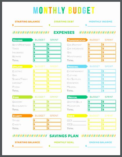 Printable Home Budget Template Awesome 10 Free Printable Bud Templates that Ll Make Bud Ing Easy