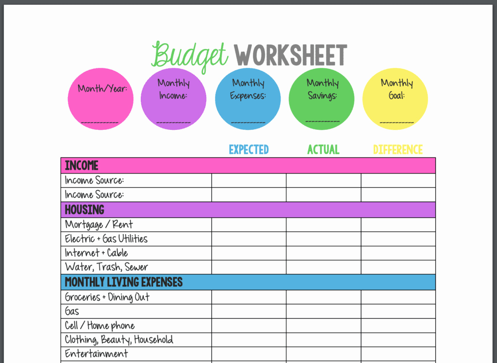 Printable Home Budget Template Luxury 12 Best Bud Templates