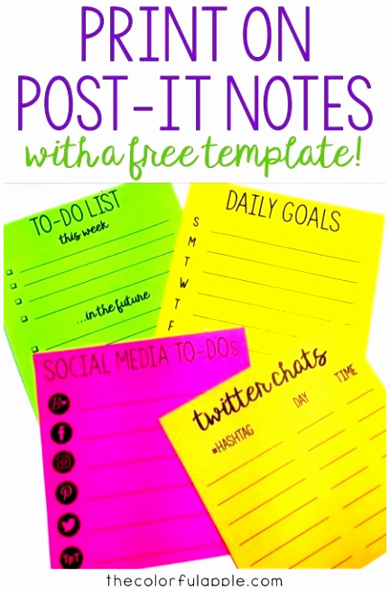 Printable Post It Notes Template Fresh 12 Printable Sticky Notes Template