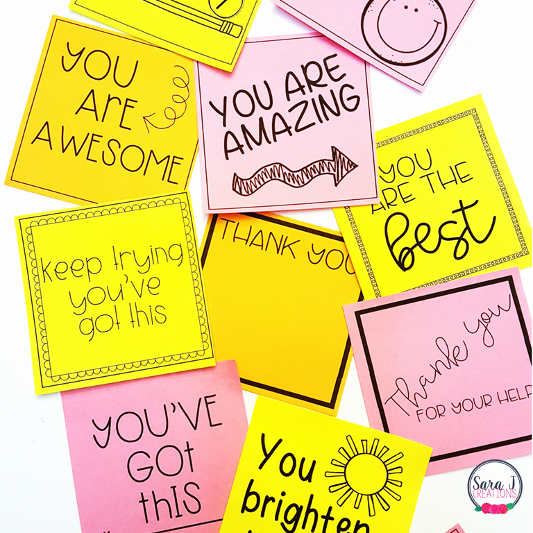 Printable Post It Notes Template Inspirational Printable Teacher Sticky Notes