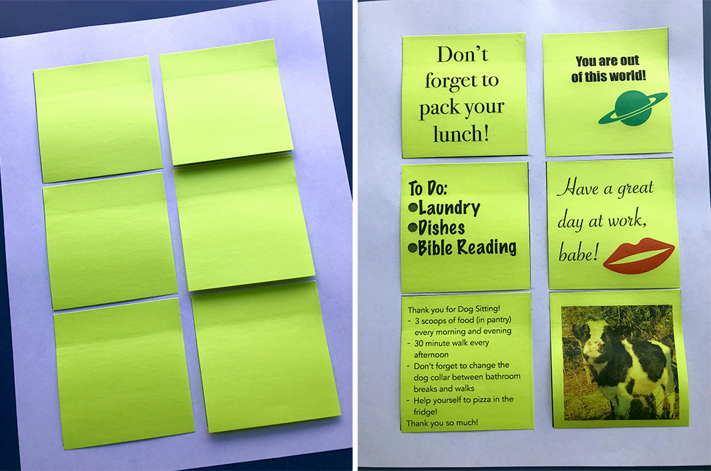 Printable Post It Notes Template Unique How to Print On Post It Notes I Heart Planners