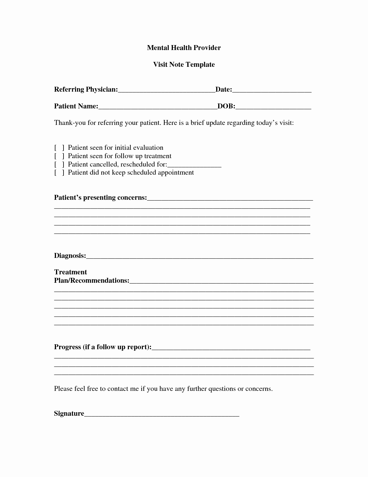 Progress Note Template Pdf Best Of Progress Note Template for Mental Health Counselors
