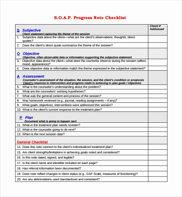 Progress Note Template Pdf Fresh Free 9 Sample Progress Note Templates In Pdf