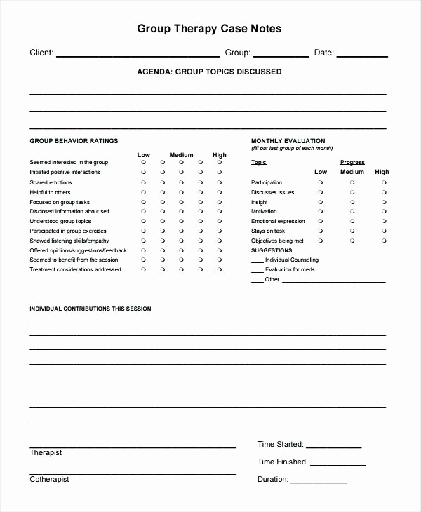 Progress Note Template Pdf Fresh therapy Note Templates – Emmamcintyrephotography