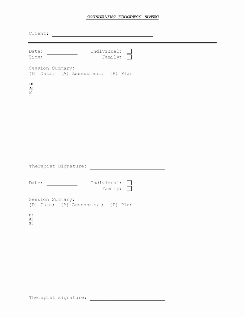 Progress Note Template Pdf Inspirational Counseling Progress Note Template Pdf format