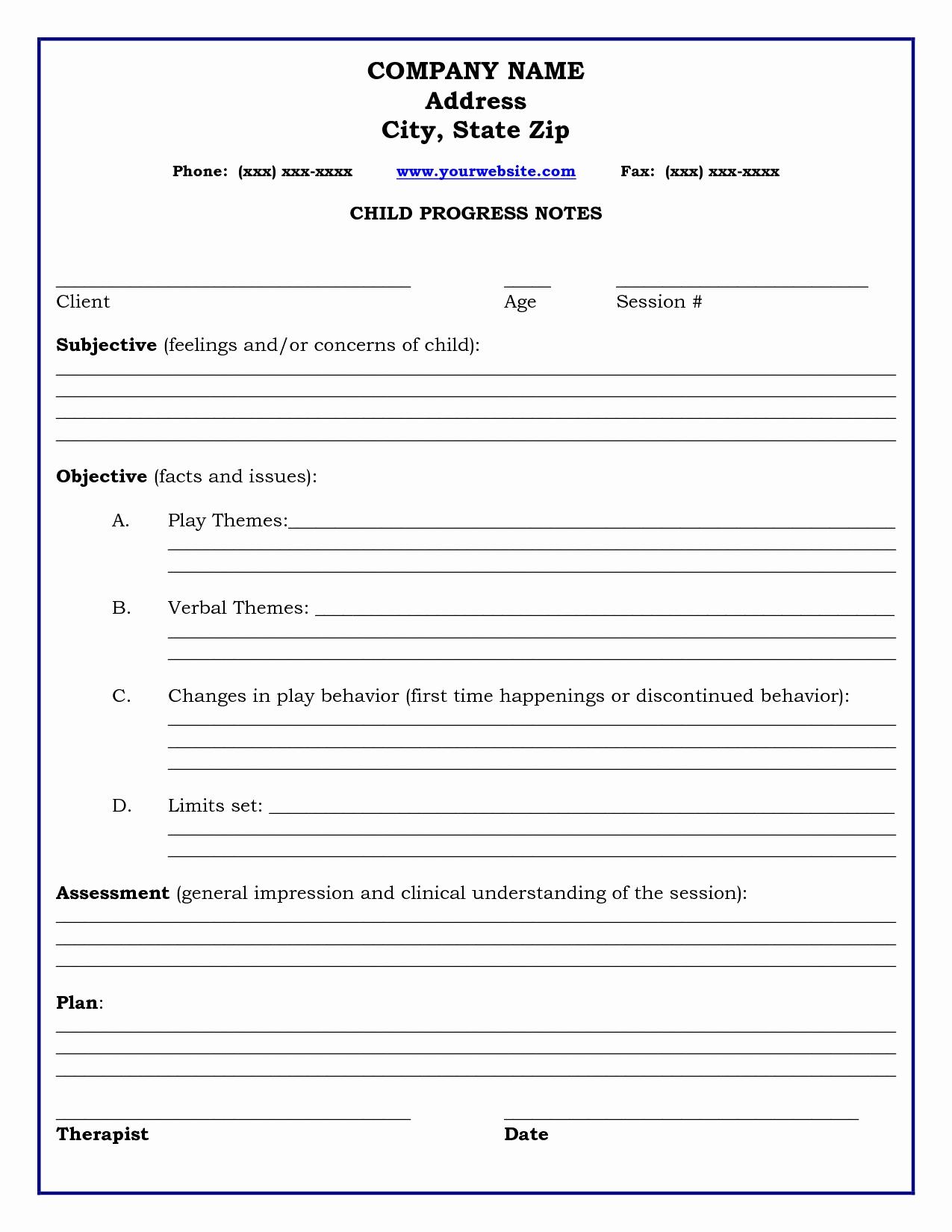 Progress Note Template Pdf Inspirational Psychotherapy Progress Note Template Pdf Example Resume