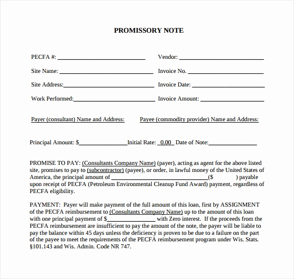 Promissory Note Template Free Download Best Of Download Free Microsoft Fice Promissory Note Templates