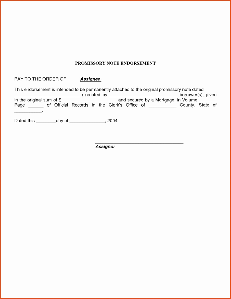Promissory Note Template Free Download Unique Simple Promissory Note