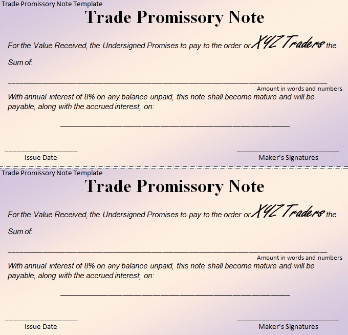 Promissory Note Template Free New 20 Promissory Note Templates Google Docs Ms Word