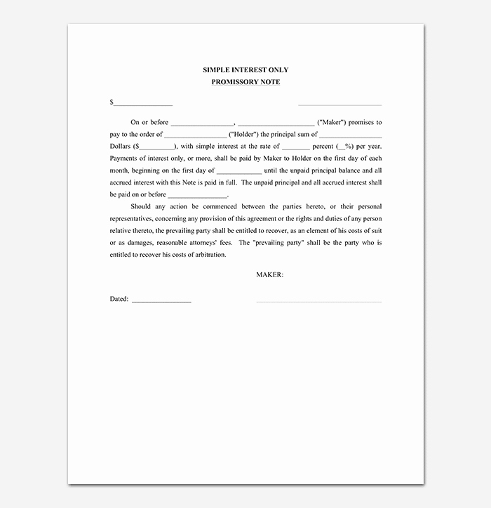Promissory Note Word Template Lovely Promissory Note Template 20 Free for Word Pdf