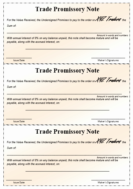 Promissory Note Word Template New 43 Free Promissory Note Samples & Templates Ms Word and