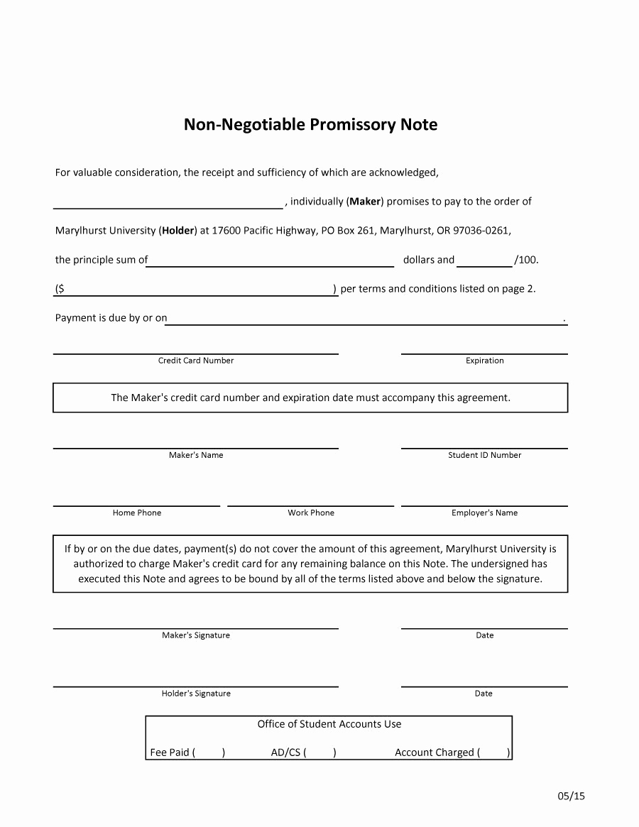 Promissory Note Word Template New 45 Free Promissory Note Templates & forms [word & Pdf]