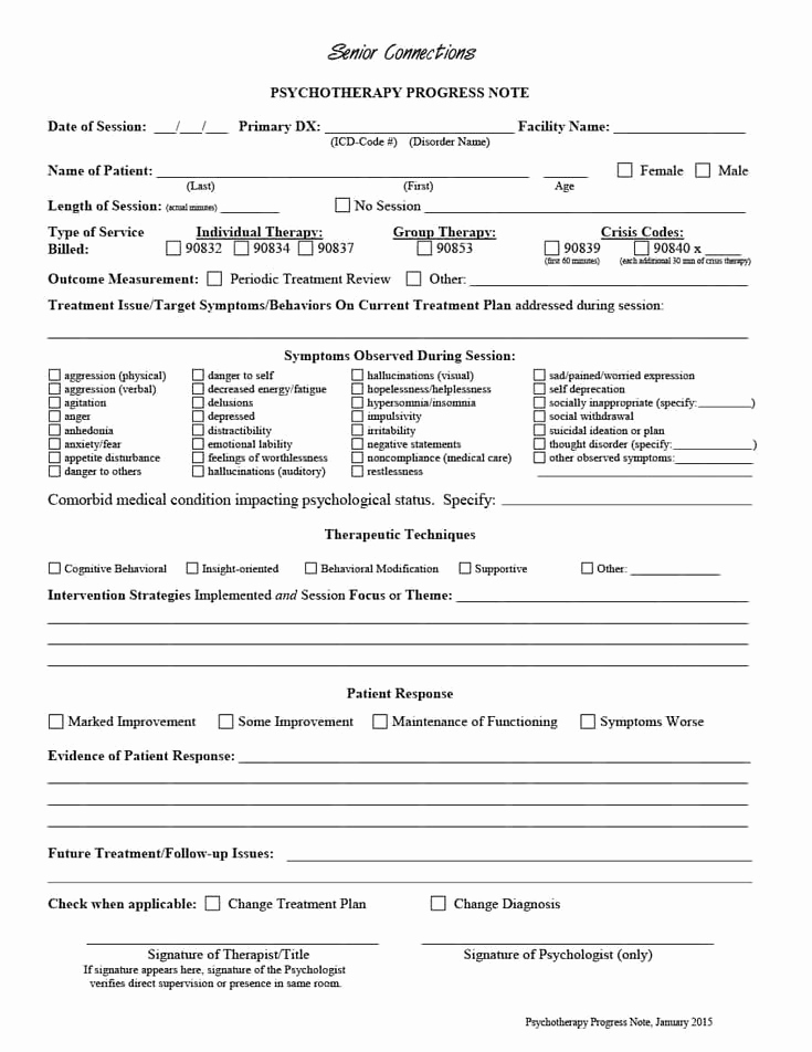 Psychiatric soap Note Template New 43 Progress Notes Templates [mental Health Psychotherapy