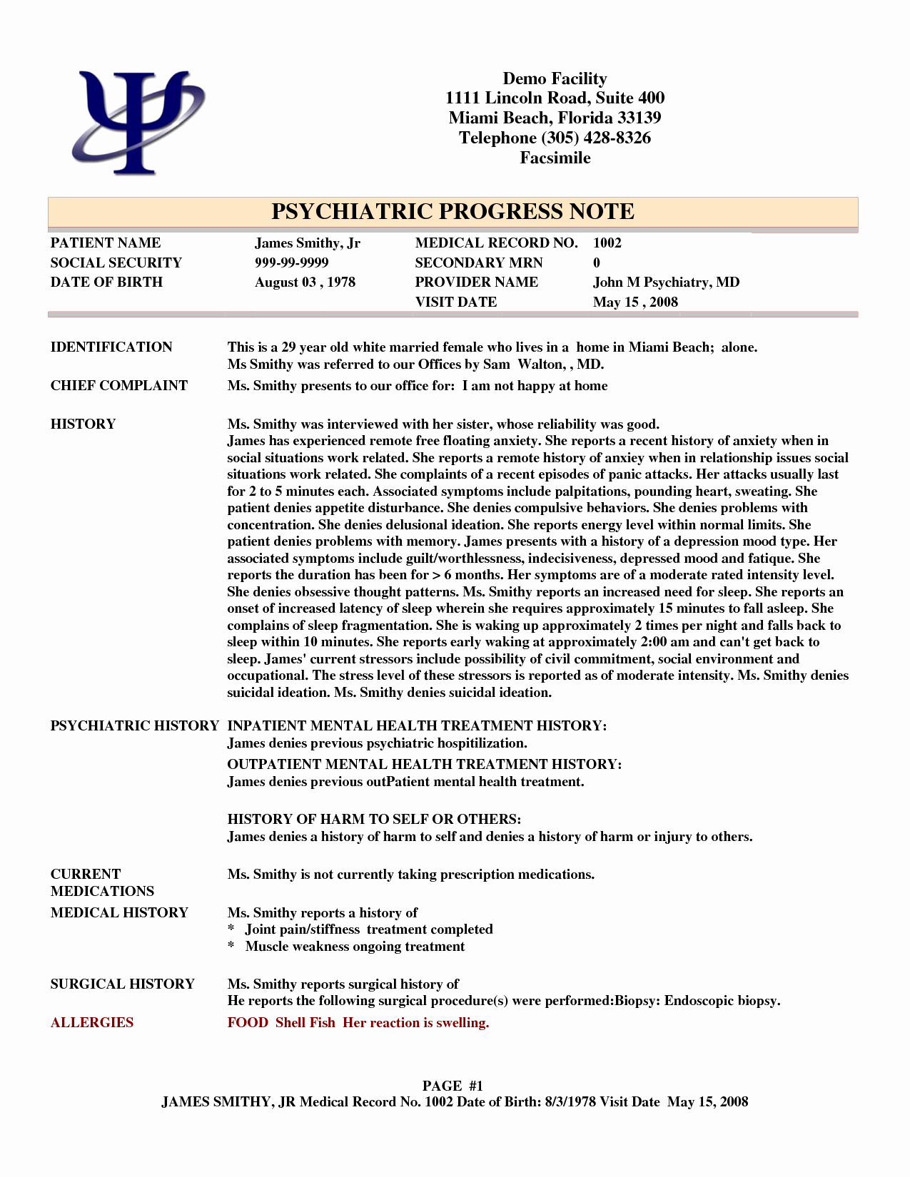Psychiatry soap Note Template Beautiful Psychotherapy Progress Note Template Pdf