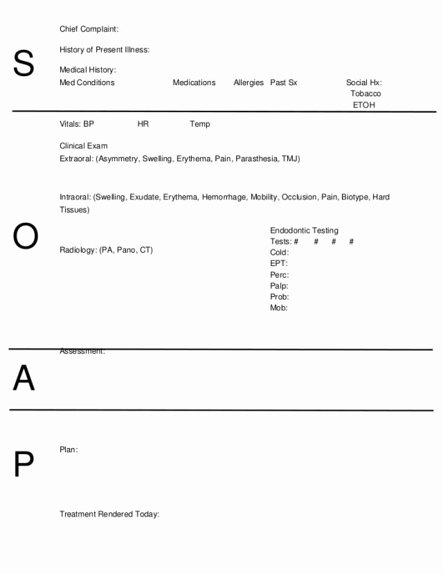 Psychiatry soap Note Template Lovely 10 soap Note Template Free Download Word Excel Pdf