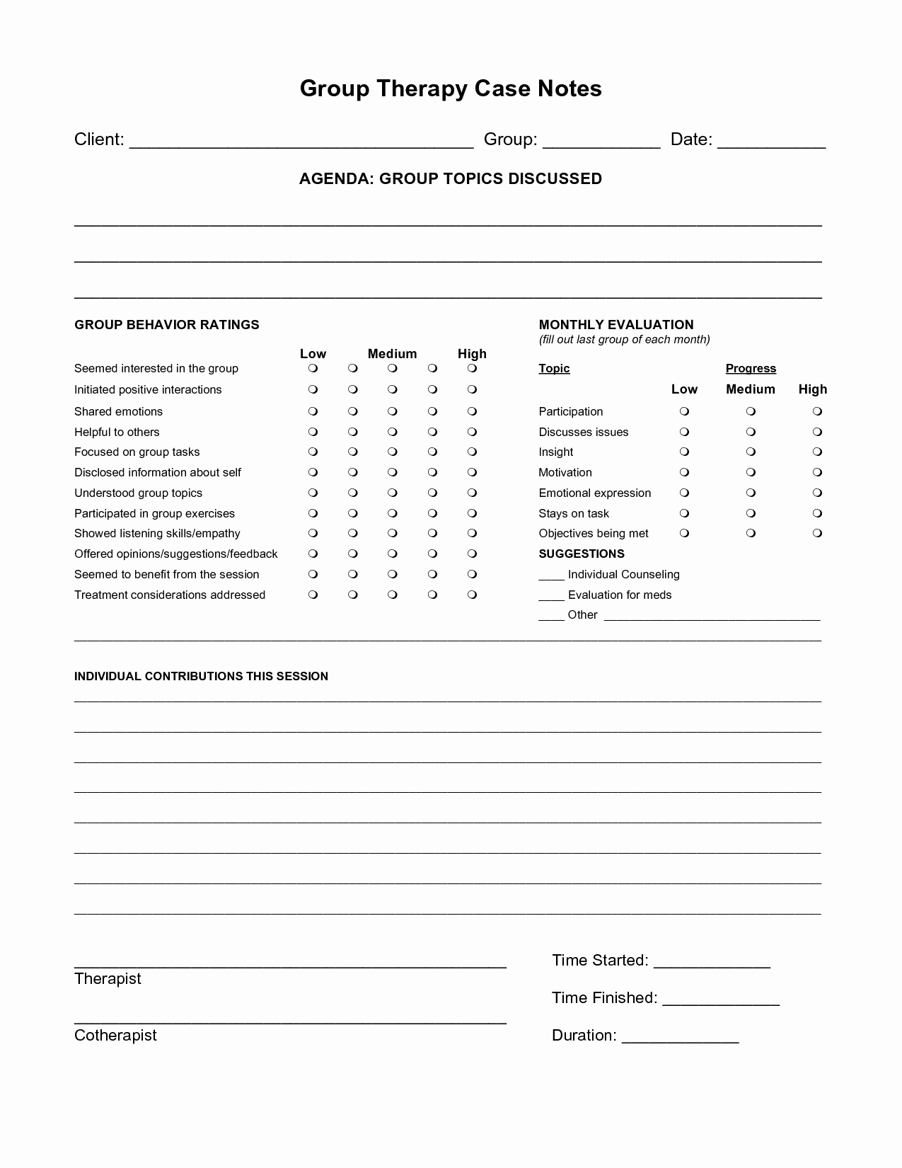 Psychotherapy Note Template Word Elegant Free Case Note Templates Group therapy Case Notes