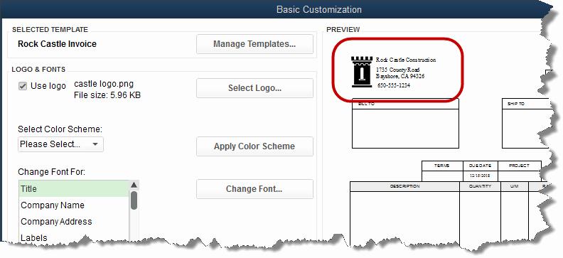 Quickbooks Invoice Template Download Fresh Adding A Logo to Invoice Template Experts In Quickbooks