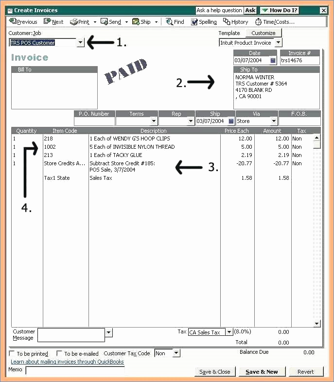 Quickbooks Invoice Template Excel Fresh Quickbooks Invoice Sample