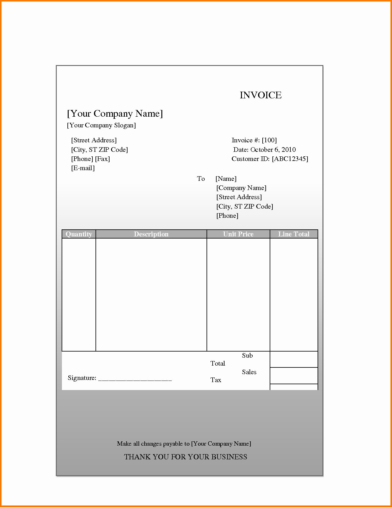 Quickbooks Invoice Template Excel Unique Quickbooks Spreadsheet Templates Google Spreadshee