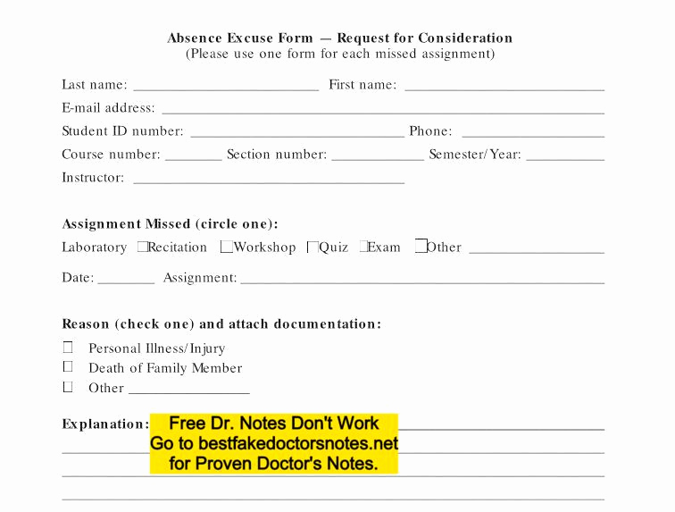 Real Doctors Note Template Awesome Download Fake Doctors Note Templates & Excuses