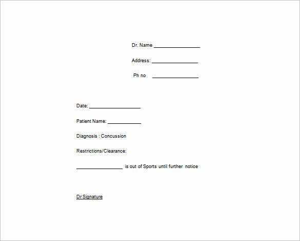Real Doctors Note Template Beautiful Doctor Note Template 6 Free Sample Example format