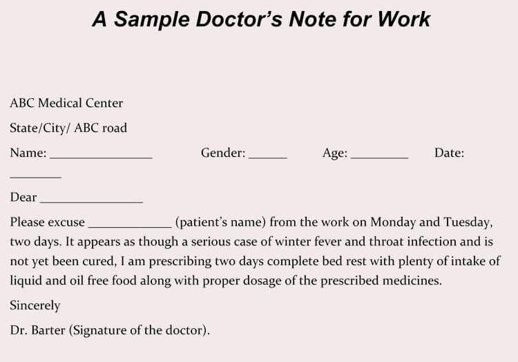 Real Doctors Note Template Luxury Creating Fake Doctor S Note Excuse Slip 12 Templates