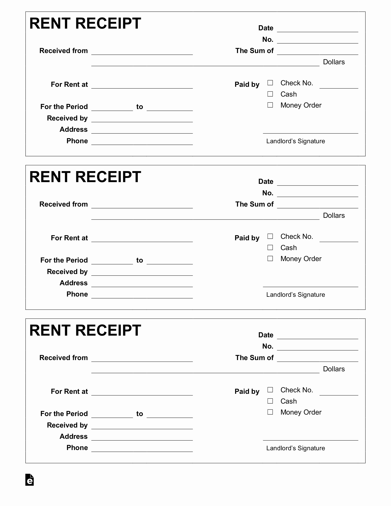 Rent Invoice Template Free Awesome Free Rent Receipt Template Pdf Word