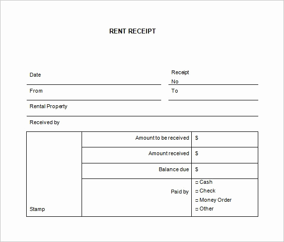 Rent Invoice Template Free Beautiful Receipt Template Word