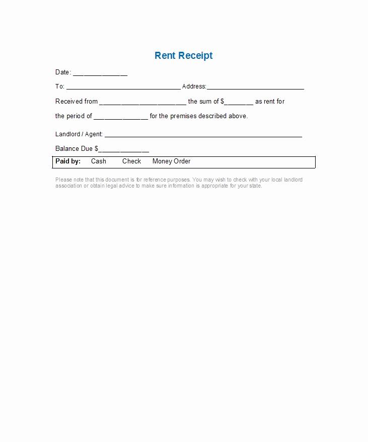 Rent Invoice Template Free Elegant 49 Printable Rent Receipts Free Templates Templatelab