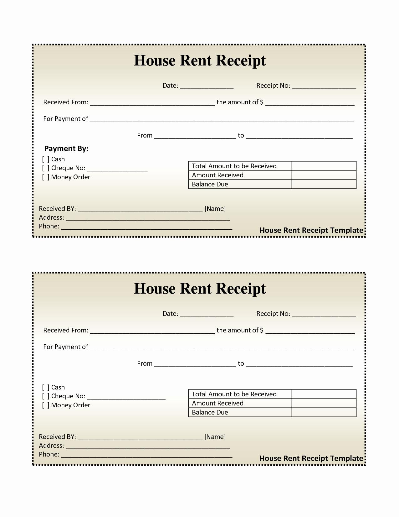 Rent Invoice Template Free Luxury Free House Rental Invoice