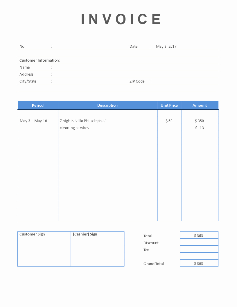 Rent Invoice Template Free New Free Rental Invoice Short Stay Property