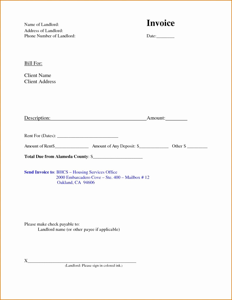 Rent Invoice Template Free New Rent Invoice Template Free Deposit Receipt Rental Word