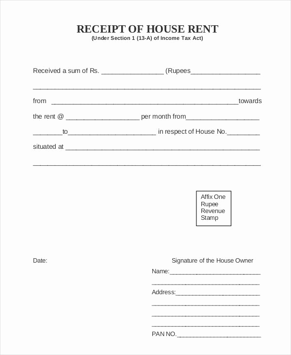 Rent Invoice Template Pdf Beautiful Rent Receipt 16 Free Word Pdf Documents Download Free