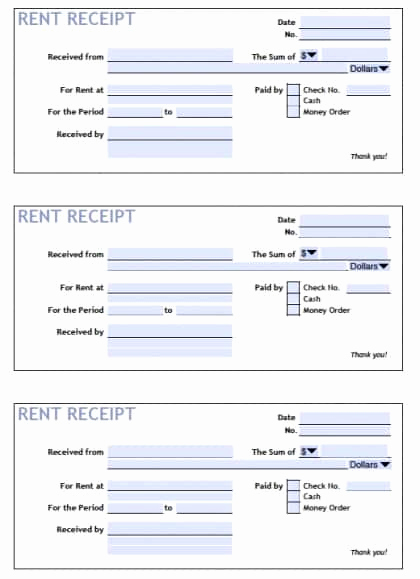 Rent Invoice Template Pdf Lovely 6 Rent Receipt Templates