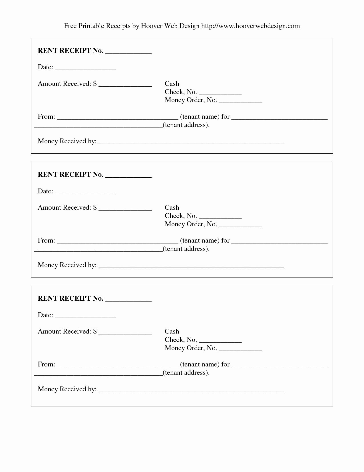 Rent Invoice Template Pdf Luxury Free Rent Receipt Free Printable Documents