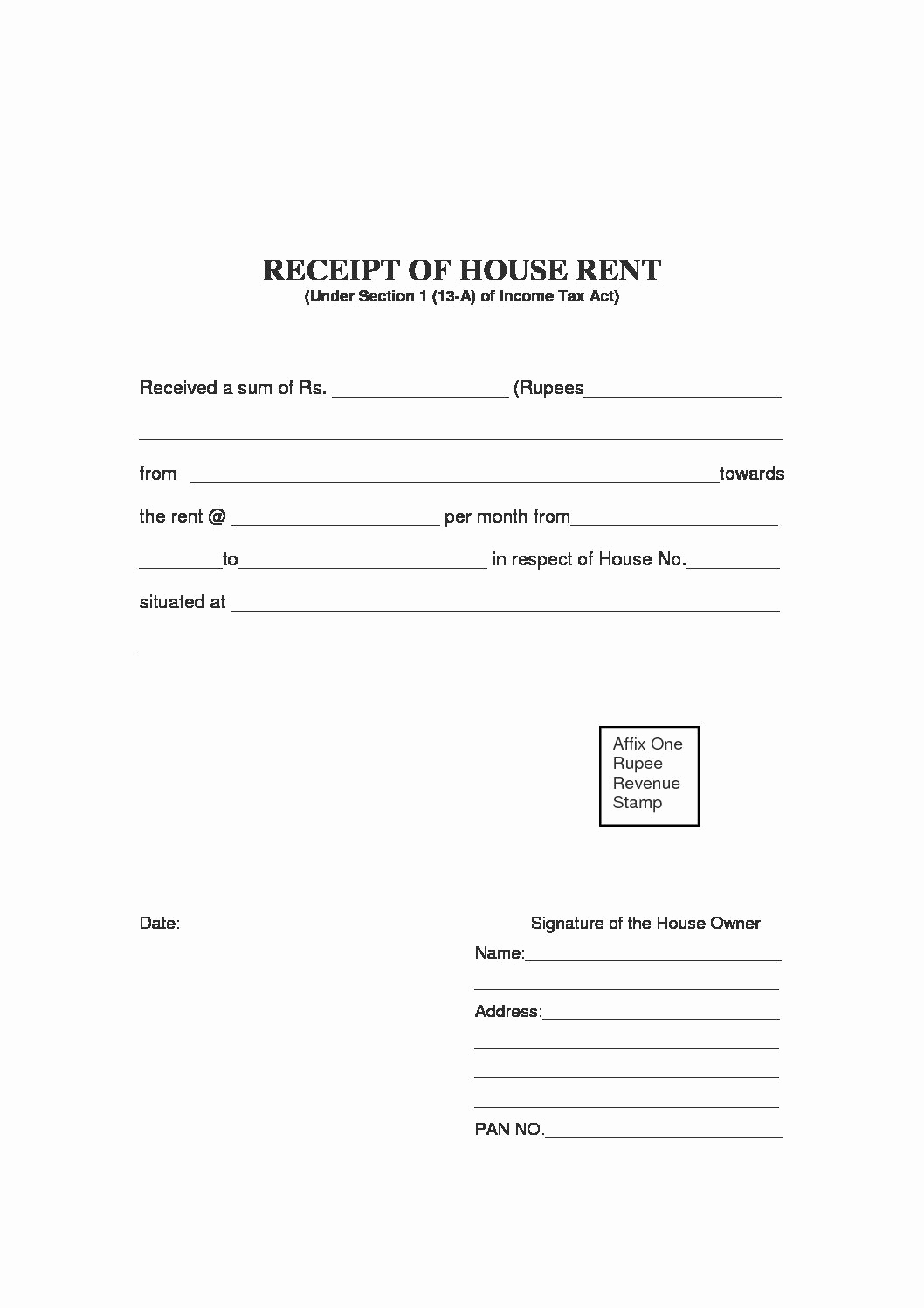 Rent Invoice Template Pdf Unique Free Rent Receipt Template and What Information to