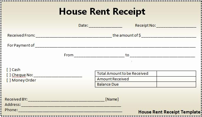 Rent Invoice Template Word Fresh House Rent Receipt format
