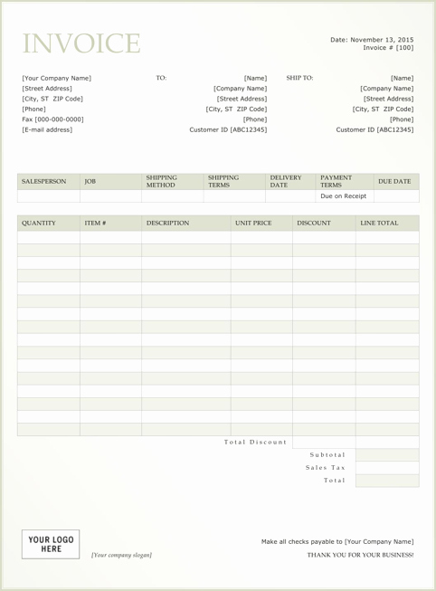Rent Invoice Template Word Lovely Rent Invoice Template Templates&forms