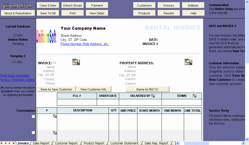Rental Invoice Template Excel Unique Rental Invoice Template Invoice Manager for Excel