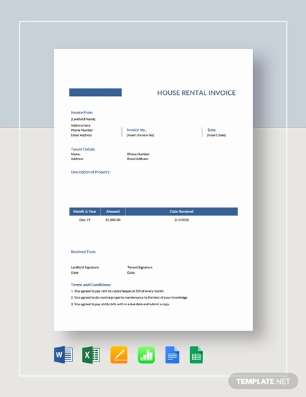 Rental Invoice Template Word Best Of Free 13 Rent Invoice Examples & Samples In Google Docs